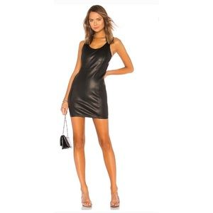Alexander Wang Leather Mini Dress. Size 6. NWT.